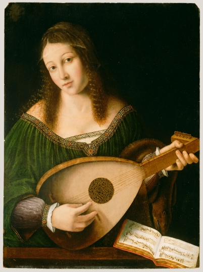 Lady playing lute